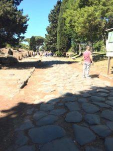 Roman remains in ostia antica