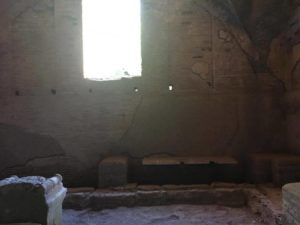 Remains of a public bathroom in ostia antica