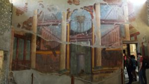 Villa poppaea - wall that is painted on, but fading