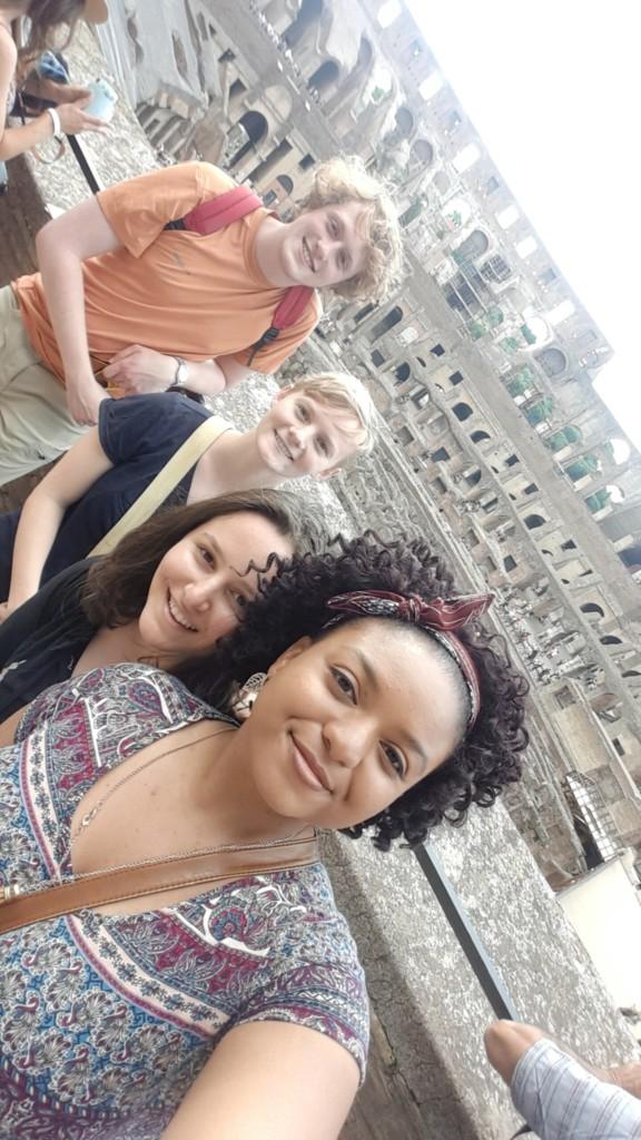 Naamah, klea, eva, and nick at the colosseum